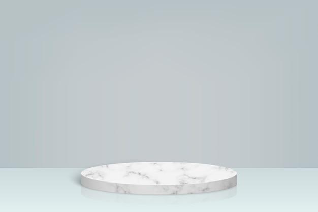Scena minima con podio in pietra di marmo, sfondo di presentazione del prodotto cosmetico