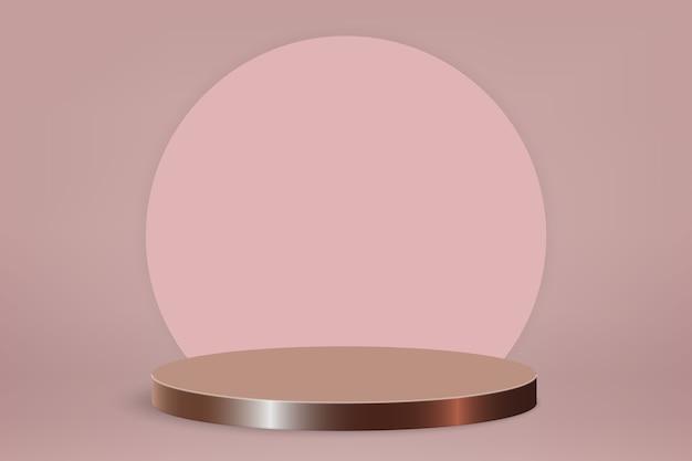 Scena minima con podio, sfondo di presentazione del prodotto cosmetico
