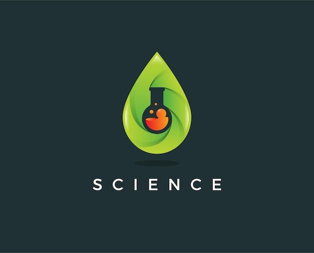 Modello di logo di scienza minima