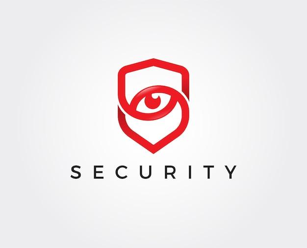 Logo dell'occhio di sicurezza minimo