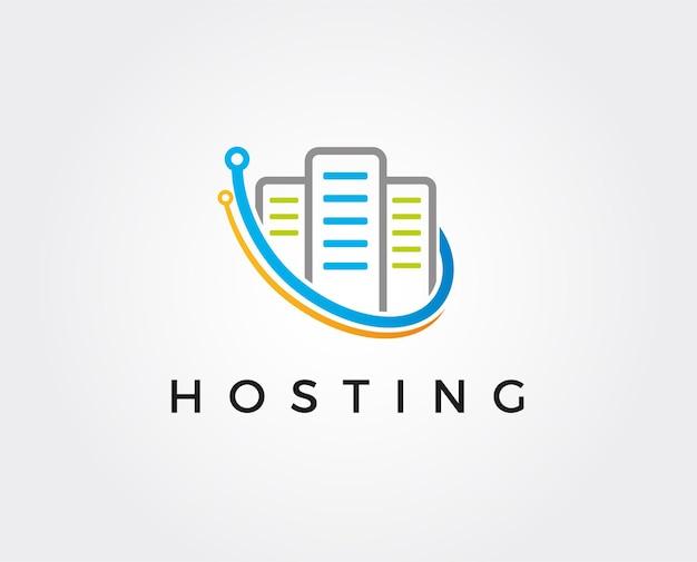 Modello di logo della casella del server minimo