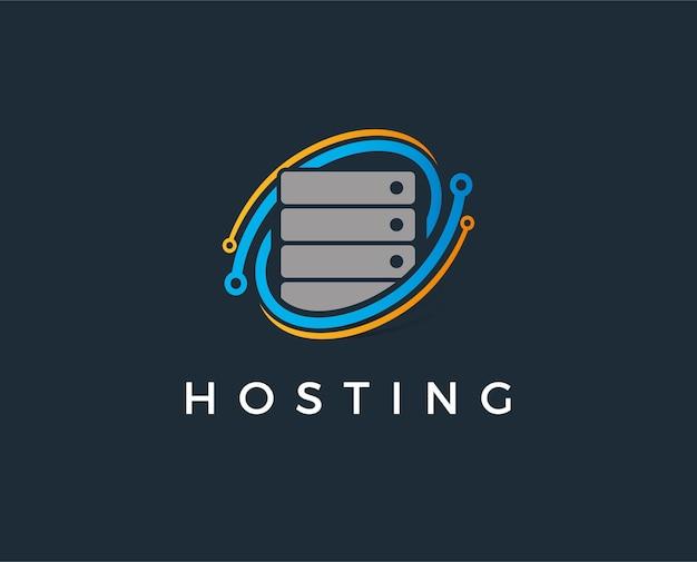 Modello di logo del server minimo