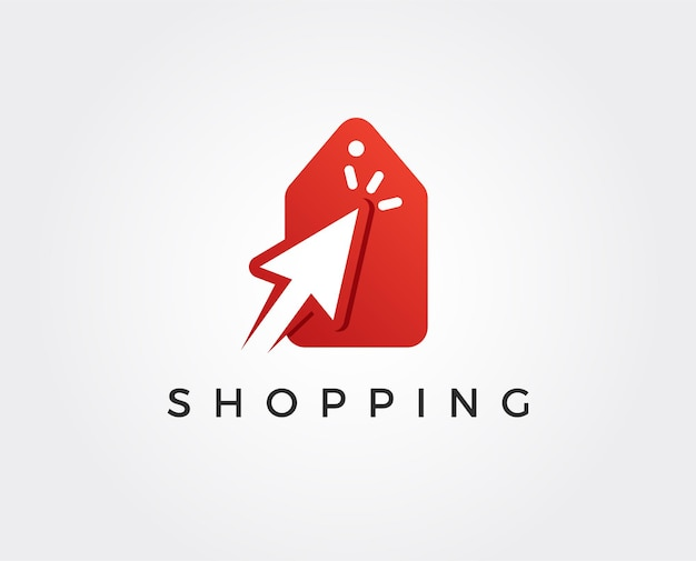Modello di logo dello shopping minimo