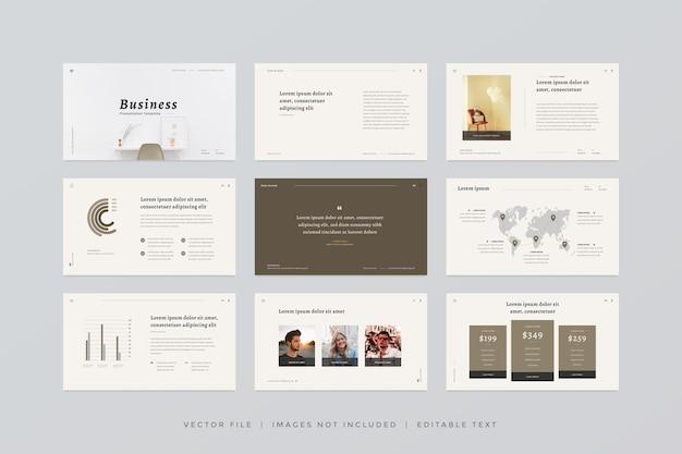 Modello di presentazione di diapositive minime con stile moderno