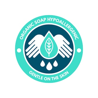 Modello di logo di sapone minimo