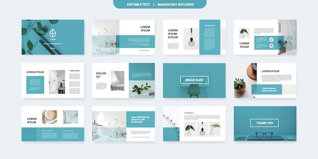 Modello di diapositive powerpoint stile minimal