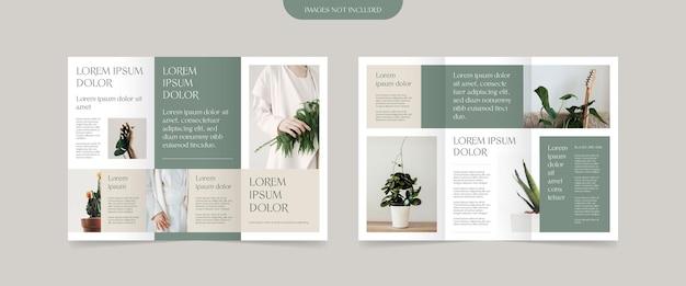 Design brochure a tre ante in stile minimal