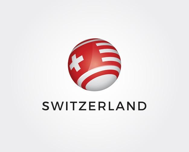 Modello minimo di logo svizzero