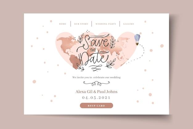 Pagina di destinazione del matrimonio minima