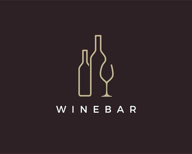 Modello di logo del vino minimo