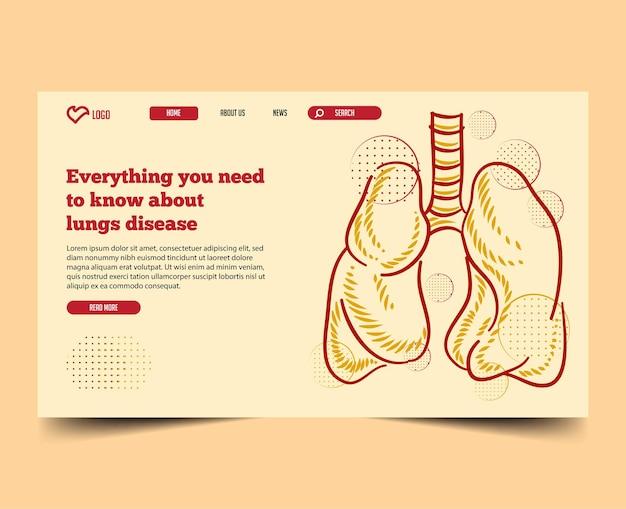 Minimal con il modello web della pagina di destinazione dell'illustrazione