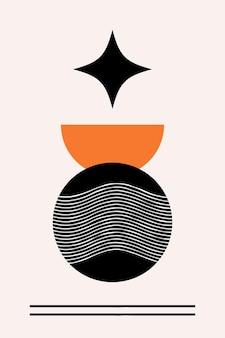 Modello di stampa del manifesto boho astratto minimalista.
