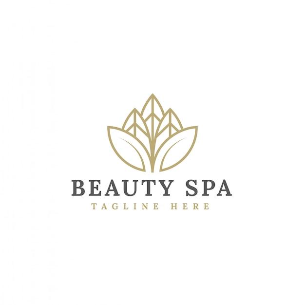 Vettore minimalista di progettazione di logo del fiore di bellezza