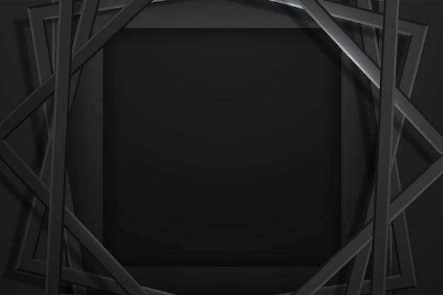 Sfondo astratto premium nero minimalista