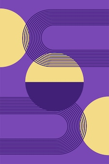 Boho minimalista poster o t shirt print design pattern background