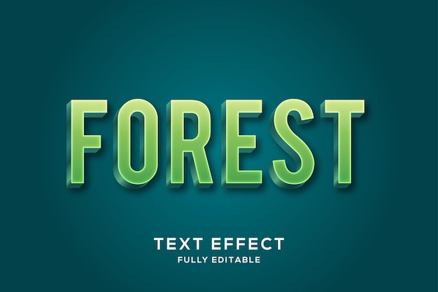 Effetto di testo verde grassetto minimalista