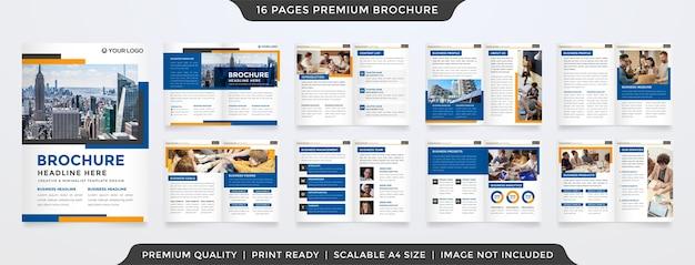 Modello di brochure minimalista con uno stile pulito