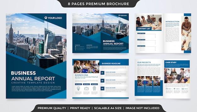 Modello di brochure aziendale minimalista