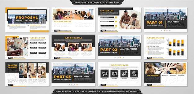 Stile premium modello di proposta di business minimalista