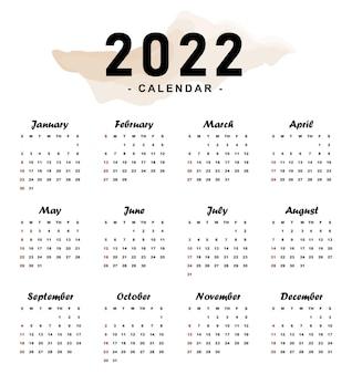 Design del calendario minimalista