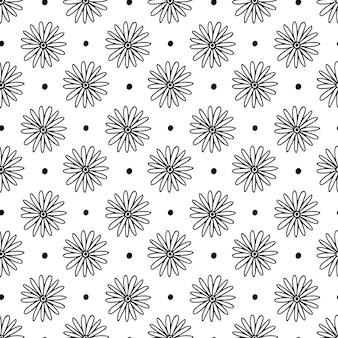 Sfondo di camomilla minimalista. motivo floreale senza soluzione di continuità. campione di stoffa con fiorellini