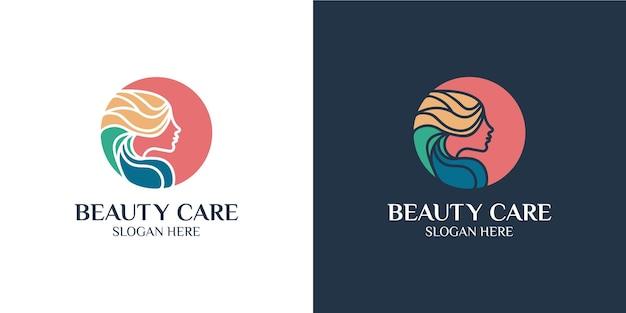 Set logo minimalista colorato per donne