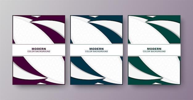 Cover design minimalista, onda astratta di colore bianco e blu.