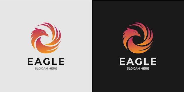 Set di logo minimalista dell'aquila con un moderno design del logo