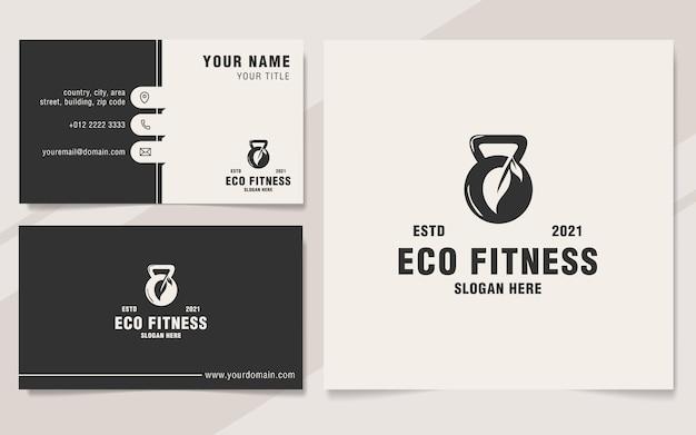 Modello di logo minimalista eco fitness stile monogramma