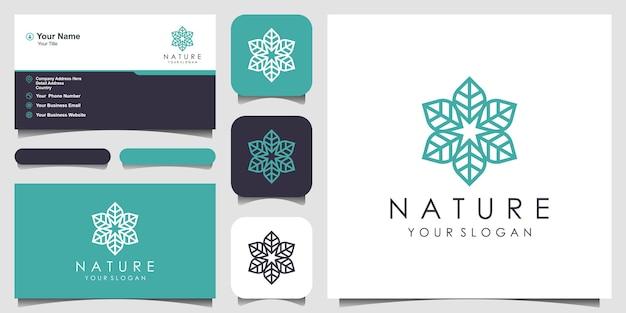 Design minimalista ed elegante con logo rosa floreale per la bellezza cosmetici yoga e spa