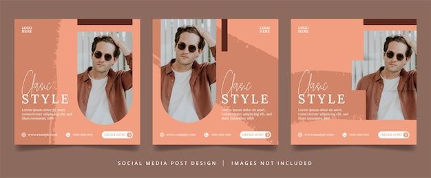Volantino di moda minimalista o banner per social media