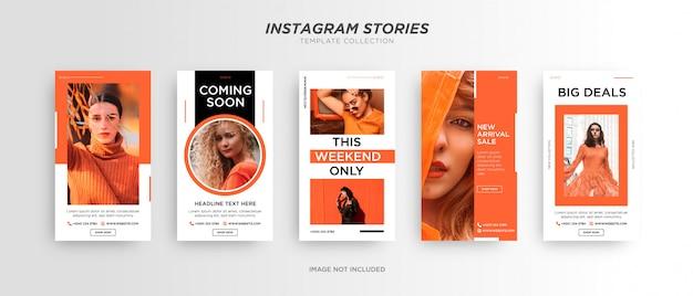 Storia di instagram di social media di moda minimalista