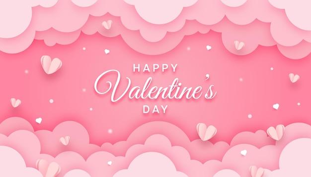 Minimalista felice giorno di san valentino Vettore Premium