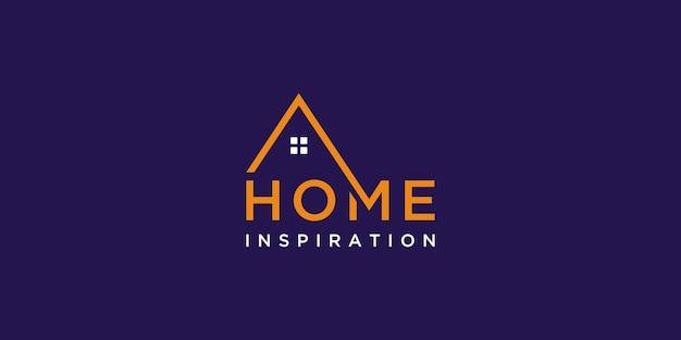 Logo della casa minimalista per il settore immobiliare