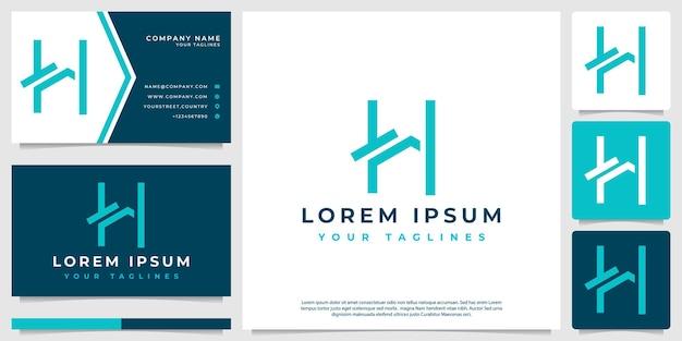 Logo vettoriale casa minimalista dalla lettera h