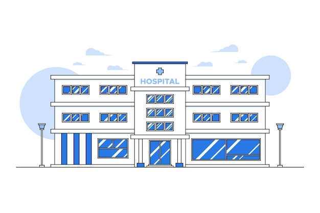 Edificio ospedaliero minimalista