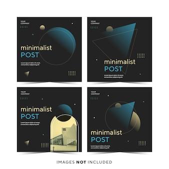 Design minimalista del modello di post instagram
