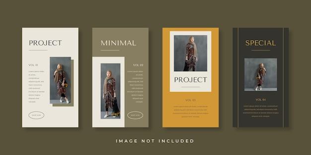 Modello di storie instagram minimalista