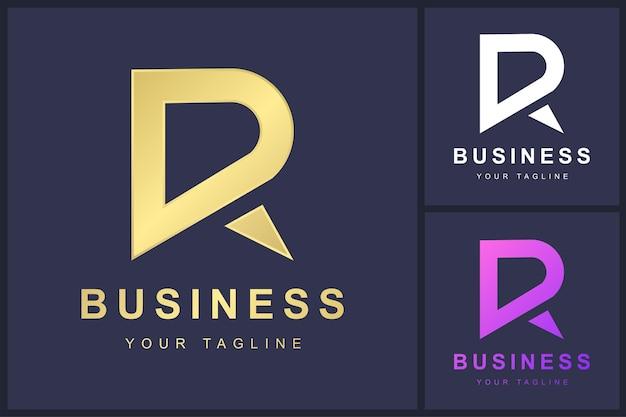 Design minimalista del modello di lettera r logo