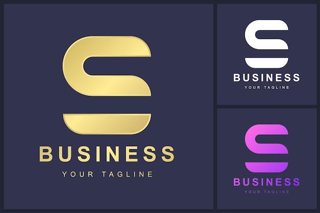 Design minimalista del modello di logo della lettera s.