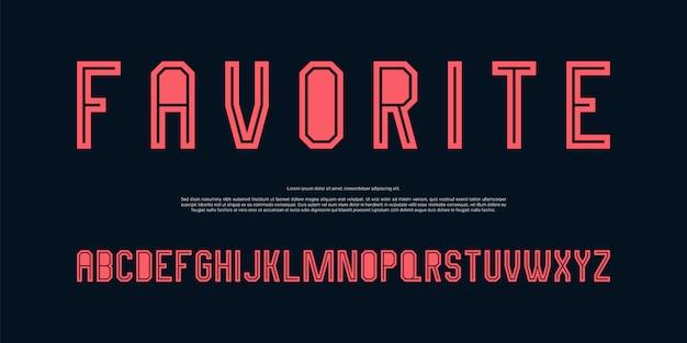 Carattere alfabeto moderno minimalista