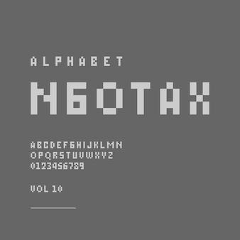 Lettera dell'alfabeto moderno minimalista o font tipografia casual font logo font vettore premium