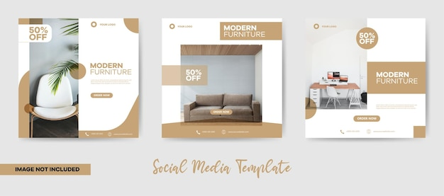 Post di social media mobili moderni minimalisti