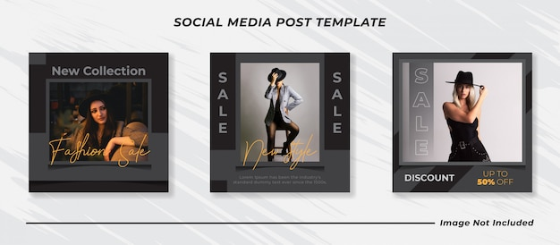 Insieme di modelli di post di social media di vendita moderna minimalista