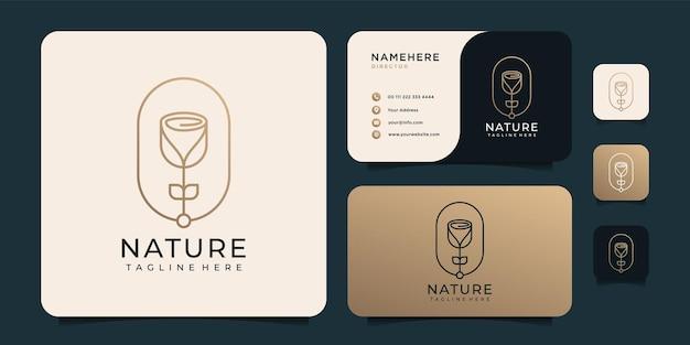 Design minimalista del logo della spa yoga del benessere della natura