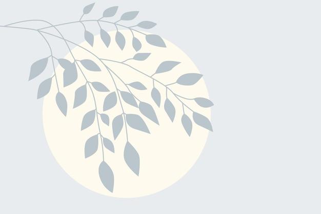 Illustrazione della scuola materna di progettazione di arte del ramo della pianta minimalista