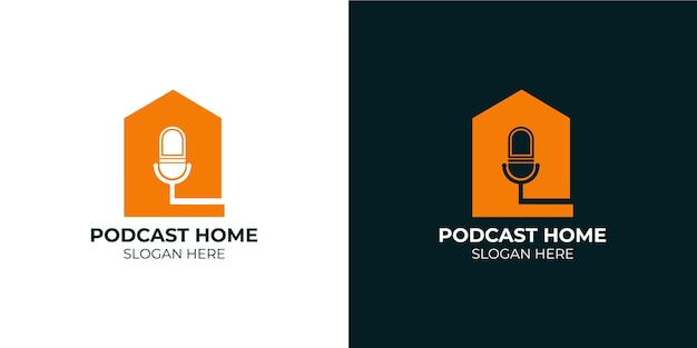 Set di loghi per la casa del podcast minimalista