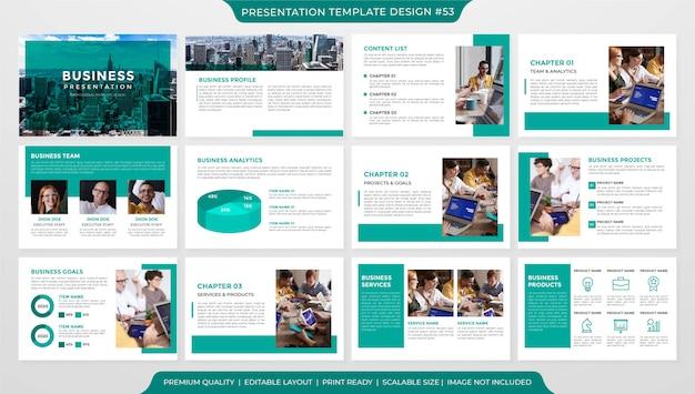 Modello di layout di presentazione minimalista