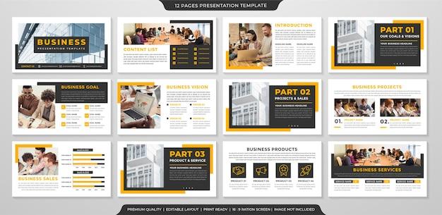 Modello di presentazione ppt minimalista stile moderno