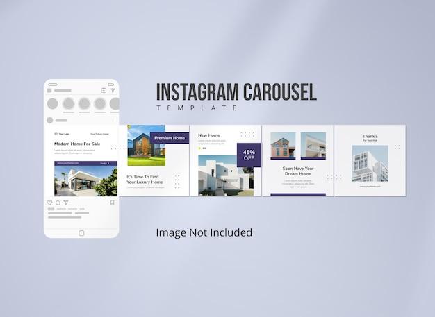 Modello minimalista instagram carousel immobiliare